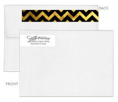Modern Chevron Wrap Around Address Labels