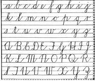 They taught cursive in school