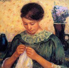 Mary Cassatt, Woman Sewing, 1913