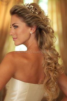 félig+leengedett+esküvői+frizurák+-+félig+leengedett+esküvői+frizura