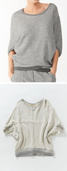 Cocoon Pullover- looks so comfy! Sewing Clothes, Diy Clothes, Clothes For Women, Mode Style, Style Me, Pantalon Thai, Pijamas Women, Mode Inspiration, Lounge Wear