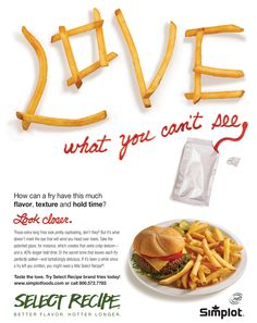 French Fry Ad Design by Jen Evans #love #saltcommunications