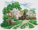ДОМИКИ, ДВОРИКИ Album, Plants, Cross Stitch, Cross Stitch Landscape, Scenery, Plant, Planets, Card Book