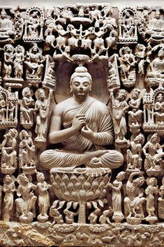 'Vision of a Buddha's Paradise.' The sculpture is considered the finest example of Gandharan art ever found.via WSJ #Buddha #Gandhara #WSJ