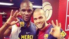 Abidal agradece el homenaje de Alves con el dorsal '22'   FC Barcelona Noticias