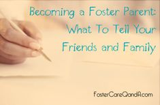 How do you explain #fostercare to your friends and family? Sample letter to family