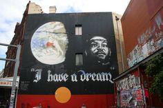My home: Newtown, Australia .. My favourite piece of graffiti on King Street.