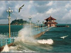 Yes it was broken last years, but was reconstructed..Qingdao. My last Chinese home