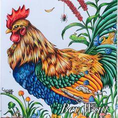 #Animorphia #rooster #animorphiacolouringbook #kerbyrosanes #prismacolour #coloring