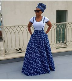 Reny's Wedding traditional outfits for African Women - Reny styles African Inspired Fashion, Latest African Fashion Dresses, African Dresses For Women, African Print Fashion, African Attire, African Women Fashion, African Dress Styles, Long African Skirt, Xhosa Attire