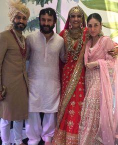 May Kareena Kapoor and Saif Ali Khan greet the newly wed couple, Sonam Kapoor and Anand Ahuja, who are just aww-dorable❤️ Sonam Kapoor's Wedding, Indian Wedding Jewellery, Indian Groom. Bollywood Couples, Bollywood Wedding, Bollywood Stars, Bollywood Fashion, Indian Celebrities, Bollywood Celebrities, Bollywood Actress, Kareena Kapoor Khan, Sanjay Kapoor