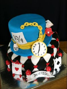 Mad Hatter Cake for an Alice in Wonderland theme