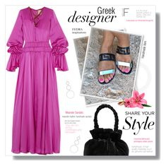 """""""FEDRAinspirations"""" by sans-moderation ❤ liked on Polyvore featuring Staud, Ancient Greek Sandals, Roksanda and Isabel Marant"""
