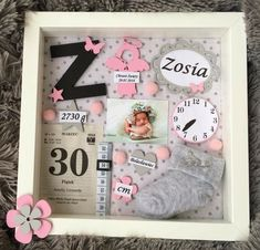 We want so much that a girl wants # - Baby Girl Nursery Room . Baby Crafts, Diy And Crafts, Newborn Shadow Box, Baby Frame, Baby Album, Baby Memories, Baby Keepsake, Everything Baby, Baby Scrapbook