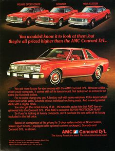 1978 AMC Concord DL comparison ad.