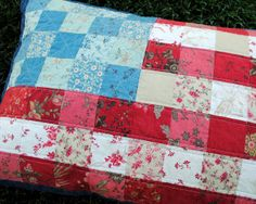 DIY: American Flag Quilted Pillow (Instructions for Matching Quilt)