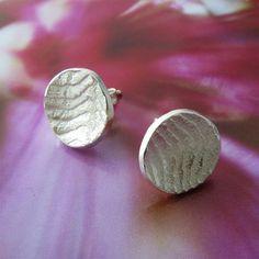 Sterling Silver Cuttlefish Studs by catherinechandler on Etsy, $65.00
