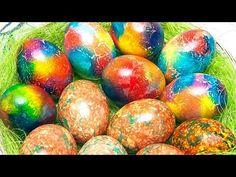 Как покрасить яйца на Пасху - 2 интересных способа! – Коллекция Рецептов - YouTube