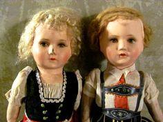 Vintage Swiss dolls.