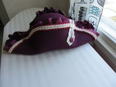 Regency bicorn hat for a lady with some basic how-to images, by Shadowofmyhand