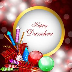 Vector happy dussehra festival fireworks with typography logo free vector happy dussehra festival wallpaper gifts background m4hsunfo