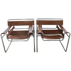 Vintage Wassily Lounge Chairs by Marcel Breuer for Knoll | 1stdibs.com