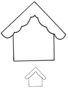 House Outline Template. Base for Gingerbread House art