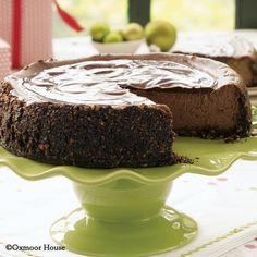 Gooseberry Patch Recipes: Chocolate-Cappuccino Cheesecake from Have Yourself a Homemade Christmas Cookbook