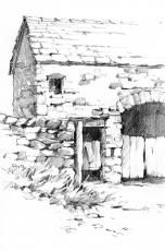 Drawing of Catholes Barn - Cumbria, UK