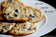 Best Chocolate Chip Cookies--haven't tried the recipe yet, but I will.  Still think my sister makes the best ever chocolate chip cookies, but these may come close to hers.   ;)