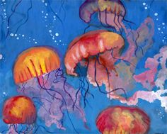 5th grade painting projects | ... Jellyfish, by Catherine Cui, 5th grade, Tustin, 2013 Honorable Mention