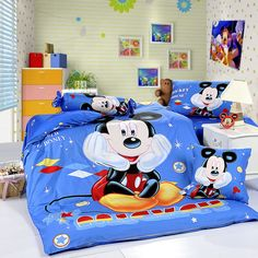 Mickey Mouse Blue Style2 Disney Bedding Sets