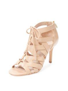 Camila Lace Front Leather Sandal by Pour La Victoire at Gilt