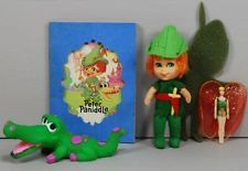 Liddle Kiddles 1967 Storybook Set Peter Pandiddle Pan 99% Complete with Shadow
