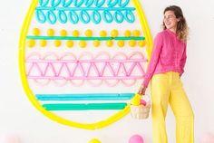 Easter Egg Balloon Backdrop