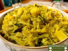 Sri Lankan Cabbage Potato Curry Recipe with Coconut Milk - Jaffna