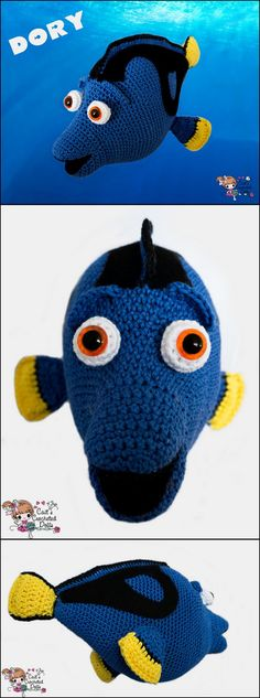 Crochet Dory fish from Finding Nemo pattern
