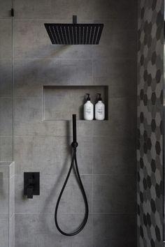 Bathroom Shower Niche Ideas New What is the Standard Height for A Shower Niche Modern Shower, Modern Bathroom, Small Bathroom, Master Bathroom, Bathroom Black, Bathroom Ideas, Bathroom Trends, Shower Ideas, Bathroom Designs