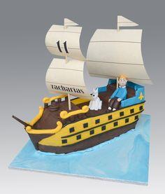 Tintin Unicorn Ship Cake — Birthday Cake Photos • Tintin gateaux • riawati
