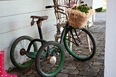 Vintage Tricycle w/ flower basket