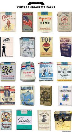 Current Obsession: Vintage Cigarette Packs