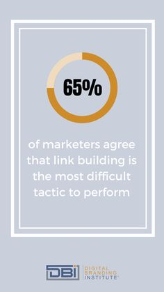 of marketers agree that link building is the most difficult tactic to perform. Email Marketing, Content Marketing, Social Media Marketing, Business Goals, Business Tips, Search Optimization, Google Analytics, Education And Training, Digital Trends