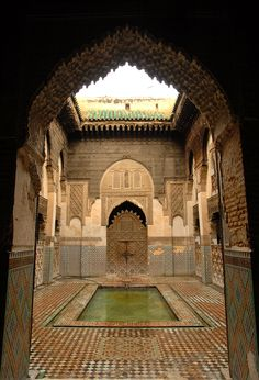 Moroccan courtyard of ancient beauty secrets...