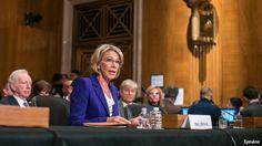 Betsy DeVos is confirmed as education secretary in contentious Senate vote