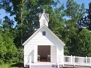 Possible Wedding Venue. It's an historic chapel at Hagan Stone Park.  It is t-tiny and can only hold 36 people, but an outdoor ceremony is possible too.