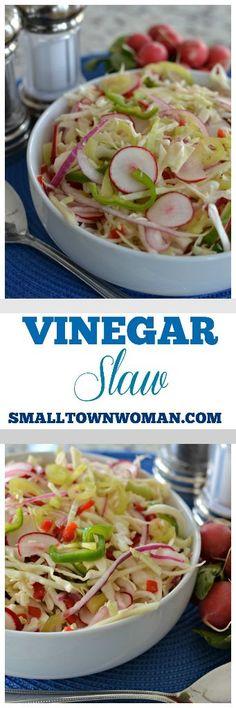 Vinegar Coleslaw | Small Town Woman