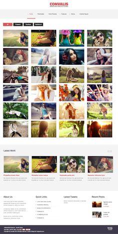 Convalis Joomla Template for Portfolio Homepage Layout