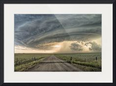 """""""Paths Crossing"""" by Sean R. Heavey, Glasgow,MT // A Supercell Thunderstorm over Glasgow,MT July 28th 2010 // Imagekind.com -- Buy stunning fine art prints, framed prints and canvas prints directly from independent working artists and photographers."""