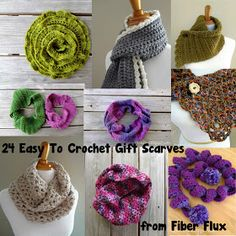 Fiber Flux...Adventures in Stitching: 24 Easy To Crochet Gift Scarves