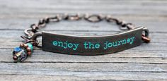 SOLD! Inspirational Quotes Bracelet enjoy the journey by Eleven11designs